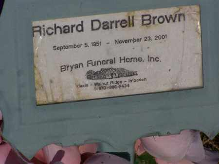 BROWN, RICHARD DARRELL - Lawrence County, Arkansas | RICHARD DARRELL BROWN - Arkansas Gravestone Photos