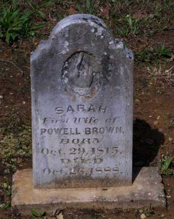 BROWN, SARAH - Lawrence County, Arkansas | SARAH BROWN - Arkansas Gravestone Photos