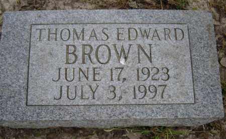 BROWN, THOMAS EDWARD - Lawrence County, Arkansas | THOMAS EDWARD BROWN - Arkansas Gravestone Photos