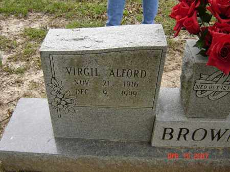 BROWN, VIRGIL ALFORD - Lawrence County, Arkansas | VIRGIL ALFORD BROWN - Arkansas Gravestone Photos