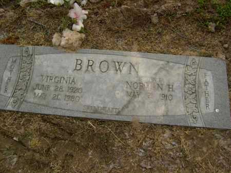 BROWN, VIRGINIA - Lawrence County, Arkansas | VIRGINIA BROWN - Arkansas Gravestone Photos