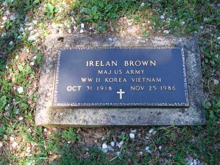 BROWN (VETERAN 3 WARS), IRELAN - Lawrence County, Arkansas | IRELAN BROWN (VETERAN 3 WARS) - Arkansas Gravestone Photos