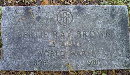 BROWN (VETERAN WWI), BERTIE RAY - Lawrence County, Arkansas | BERTIE RAY BROWN (VETERAN WWI) - Arkansas Gravestone Photos