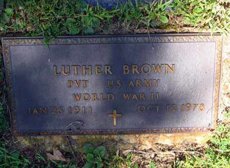 BROWN (VETERAN WWII), LUTHER - Lawrence County, Arkansas | LUTHER BROWN (VETERAN WWII) - Arkansas Gravestone Photos