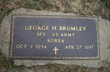 BRUMLEY (VETERAN KOR), GEORGE HOWARD - Lawrence County, Arkansas | GEORGE HOWARD BRUMLEY (VETERAN KOR) - Arkansas Gravestone Photos