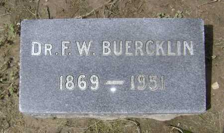 "BUERCKLIN SR, MD, FRED W.  ""F. W."" - Lawrence County, Arkansas 