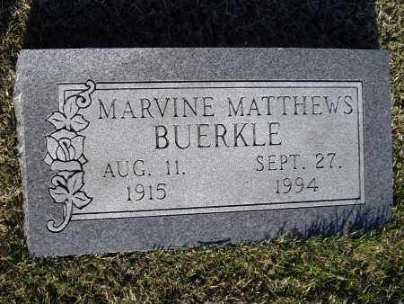 MATTHEWS BUERKLE, MARY MAVINE - Lawrence County, Arkansas | MARY MAVINE MATTHEWS BUERKLE - Arkansas Gravestone Photos