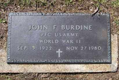BURDINE (VETERAN WWII), JOHN F. - Lawrence County, Arkansas | JOHN F. BURDINE (VETERAN WWII) - Arkansas Gravestone Photos