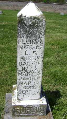 JARDON BURGIN, FLORA A. - Lawrence County, Arkansas | FLORA A. JARDON BURGIN - Arkansas Gravestone Photos
