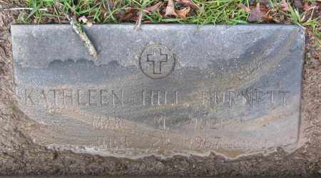 HILL BURNETT, KATHLEEN - Lawrence County, Arkansas | KATHLEEN HILL BURNETT - Arkansas Gravestone Photos