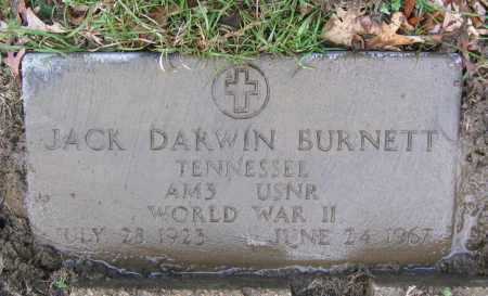 BURNETT (VETERAN WWII), JACK DARWIN - Lawrence County, Arkansas | JACK DARWIN BURNETT (VETERAN WWII) - Arkansas Gravestone Photos