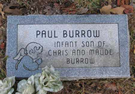 BURROW, PAUL - Lawrence County, Arkansas | PAUL BURROW - Arkansas Gravestone Photos