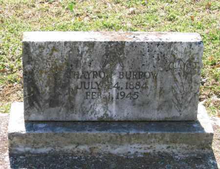 BURROW, THAYRO - Lawrence County, Arkansas | THAYRO BURROW - Arkansas Gravestone Photos