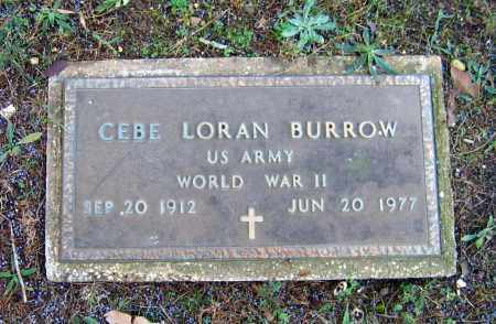 BURROW (VETERAN WWII), CEBE LORAN - Lawrence County, Arkansas | CEBE LORAN BURROW (VETERAN WWII) - Arkansas Gravestone Photos