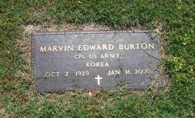 BURTON (VETERAN KOR), MARVIN EDWARD - Lawrence County, Arkansas | MARVIN EDWARD BURTON (VETERAN KOR) - Arkansas Gravestone Photos
