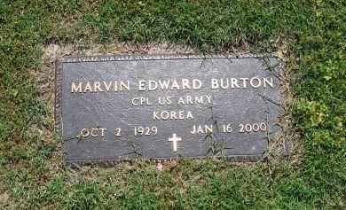 BURTON (VETERAN KOR), MARVIN EDWARD - Lawrence County, Arkansas   MARVIN EDWARD BURTON (VETERAN KOR) - Arkansas Gravestone Photos
