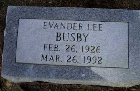 BUSBY, EVANDER LEE - Lawrence County, Arkansas | EVANDER LEE BUSBY - Arkansas Gravestone Photos