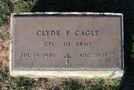 CAGLE (VETERAN), CLYDE F - Lawrence County, Arkansas | CLYDE F CAGLE (VETERAN) - Arkansas Gravestone Photos