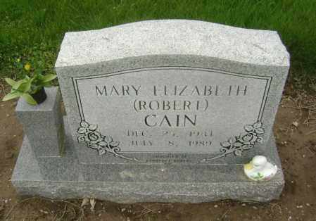 ROBERT CAIN, MARY ELIZABETH - Lawrence County, Arkansas | MARY ELIZABETH ROBERT CAIN - Arkansas Gravestone Photos