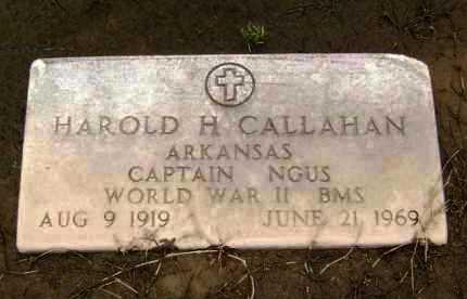 CALLAHAN  (VETERAN WWII), HAROLD HIRAM - Lawrence County, Arkansas | HAROLD HIRAM CALLAHAN  (VETERAN WWII) - Arkansas Gravestone Photos