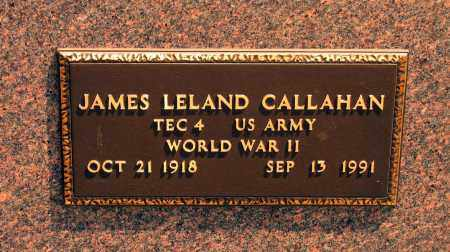 CALLAHAN (VETERAN WWII), JAMES LELAND - Lawrence County, Arkansas | JAMES LELAND CALLAHAN (VETERAN WWII) - Arkansas Gravestone Photos