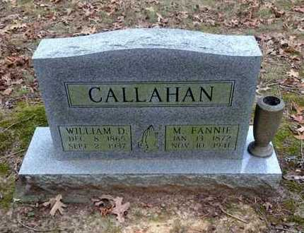 "CALLAHAN, MARY FRANCES ""FANNIE"" - Lawrence County, Arkansas 
