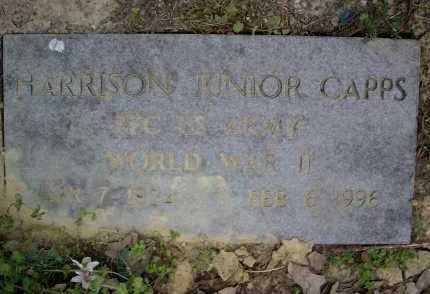 CAPPS (VETERAN WWII), HARRISON JUNIOR - Lawrence County, Arkansas | HARRISON JUNIOR CAPPS (VETERAN WWII) - Arkansas Gravestone Photos