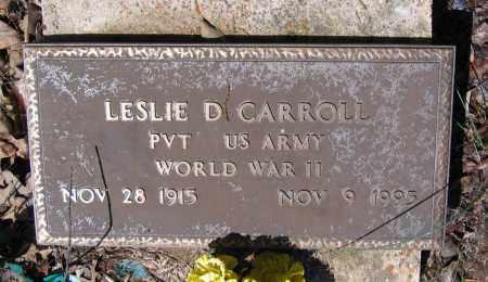CARROLL (VETERAN WWII), LESLIE DELBERT - Lawrence County, Arkansas   LESLIE DELBERT CARROLL (VETERAN WWII) - Arkansas Gravestone Photos