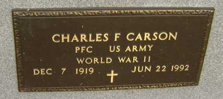 CARSON  (VETERAN WWII), CHARLES FRANK - Lawrence County, Arkansas | CHARLES FRANK CARSON  (VETERAN WWII) - Arkansas Gravestone Photos