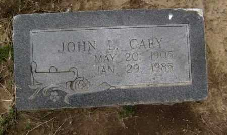 CARY, JOHN L. - Lawrence County, Arkansas | JOHN L. CARY - Arkansas Gravestone Photos