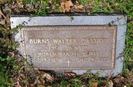 CASSIDY (VETERAN 2 WARS), BURNS WALTER - Lawrence County, Arkansas | BURNS WALTER CASSIDY (VETERAN 2 WARS) - Arkansas Gravestone Photos