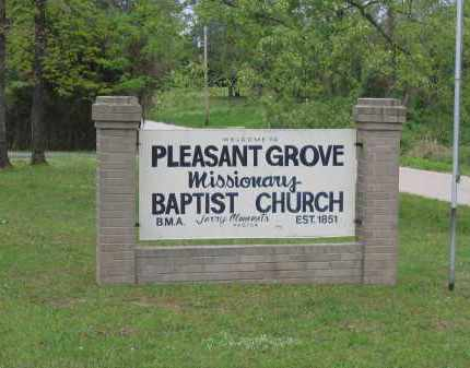 *PLEASANT GROVE BAPTIST CHURCH,  - Lawrence County, Arkansas |  *PLEASANT GROVE BAPTIST CHURCH - Arkansas Gravestone Photos