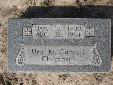 MCCARROLL CHAMBERS, URA ELIZABETH - Lawrence County, Arkansas | URA ELIZABETH MCCARROLL CHAMBERS - Arkansas Gravestone Photos