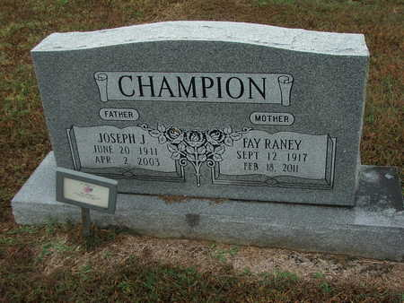 "CHAMPION, JOSEPH JACKSON ""JOE"" - Lawrence County, Arkansas 