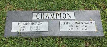 CHAMPION, RICHARD EMERSON - Lawrence County, Arkansas | RICHARD EMERSON CHAMPION - Arkansas Gravestone Photos