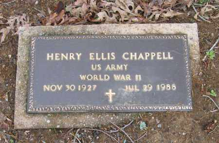 CHAPPELL (VETERAN WWII), HENRY ELLIS - Lawrence County, Arkansas | HENRY ELLIS CHAPPELL (VETERAN WWII) - Arkansas Gravestone Photos