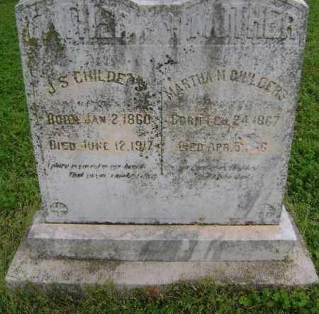 "CHILDERS, MARTHA N. ""MATTIE"" - Lawrence County, Arkansas 