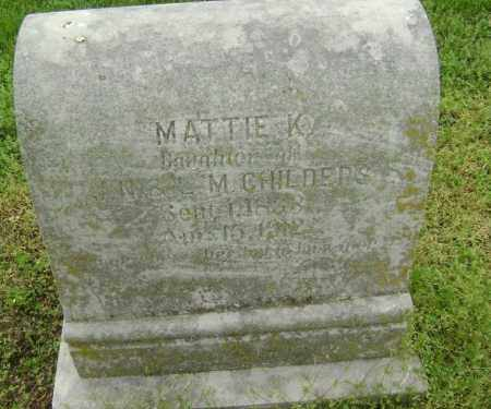 CHILDERS, MATTIE K. - Lawrence County, Arkansas | MATTIE K. CHILDERS - Arkansas Gravestone Photos