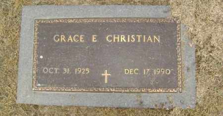 CHRISTIAN, GRACE E. - Lawrence County, Arkansas | GRACE E. CHRISTIAN - Arkansas Gravestone Photos