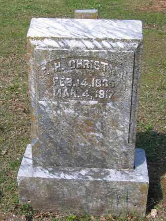 "CHRISTIAN (VETERAN CSA), FIDELLA H.  ""F. H."" - Lawrence County, Arkansas | FIDELLA H.  ""F. H."" CHRISTIAN (VETERAN CSA) - Arkansas Gravestone Photos"