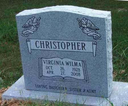 CHRISTOPHER, VIRGINIA WILMA - Lawrence County, Arkansas | VIRGINIA WILMA CHRISTOPHER - Arkansas Gravestone Photos