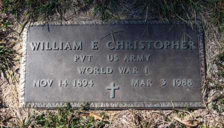 CHRISTOPHER (VETERAN WWI), WILLIAM ESTES - Lawrence County, Arkansas | WILLIAM ESTES CHRISTOPHER (VETERAN WWI) - Arkansas Gravestone Photos