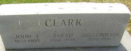 CLARK CROXTON, ROSA - Lawrence County, Arkansas | ROSA CLARK CROXTON - Arkansas Gravestone Photos