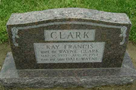 CLARK, KAY FRANCIS - Lawrence County, Arkansas | KAY FRANCIS CLARK - Arkansas Gravestone Photos