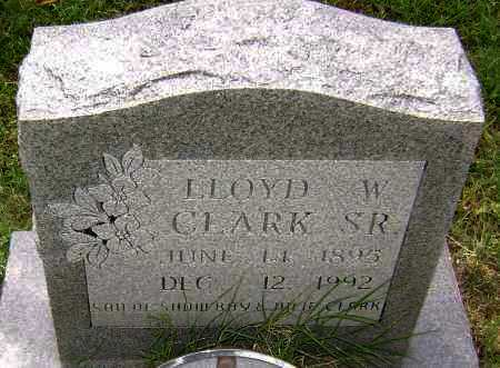 CLARK, SR., LLOYD  W. - Lawrence County, Arkansas | LLOYD  W. CLARK, SR. - Arkansas Gravestone Photos