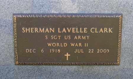 CLARK (VETERAN WWII), SHERMAN LAVELLE - Lawrence County, Arkansas | SHERMAN LAVELLE CLARK (VETERAN WWII) - Arkansas Gravestone Photos
