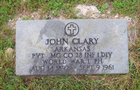 CLARY (VETERAN WWI), JOHN HENRY - Lawrence County, Arkansas | JOHN HENRY CLARY (VETERAN WWI) - Arkansas Gravestone Photos