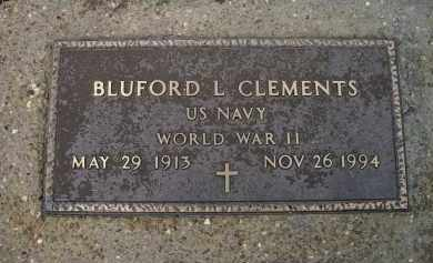 CLEMENTS (VETERAN WWII), BLUFORD LESLIE - Lawrence County, Arkansas | BLUFORD LESLIE CLEMENTS (VETERAN WWII) - Arkansas Gravestone Photos