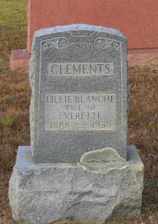 CLEMENTS, LILLIE BLANCHE - Lawrence County, Arkansas | LILLIE BLANCHE CLEMENTS - Arkansas Gravestone Photos