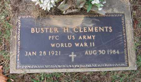 CLEMENTS (VETERAN WWII), BUSTER HOMER - Lawrence County, Arkansas | BUSTER HOMER CLEMENTS (VETERAN WWII) - Arkansas Gravestone Photos